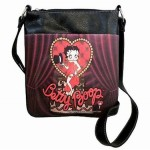 Betty Boop Pocketbook / Purse #101 Messenger Bag Heart With Top Hat Design