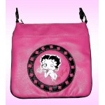 Betty Boop Pocketbook / Purse #84 Cross Body Messenger Bag Kiss Design Hot Pink
