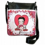 Betty Boop Pocketbook / Purse #100 Messenger Bag Heart With Pudgy Design
