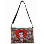 Betty Boop Pocketbook / Purse #106 Wristlet / Shoulder Bag Multi Poses Design