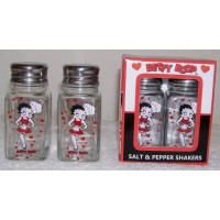 Betty Boop Salt & Pepper Shakers Chef Design