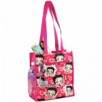 Betty Boop Tote Bag Multi Faces Design - Red