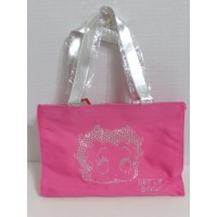 Betty Boop Tote Bag Hot Pink With Silver Face Design