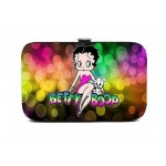 Betty Boop Clutch Purse Flat Clasp Wallet #066 Multi Color Design