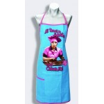 I Love Lucy Apron Chocolate Factory Design Blue
