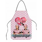 "I Love Lucy Apron Chocolate Factory ""speed It Up "" Design Polka Dot"