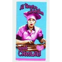 I Love Lucy Kitchen Towel Chocolate Factory Design - Blue