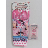I Love Lucy Kitchen Towel Chocolate Factory Design Speed It Up Design Pink