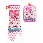 "I Love Lucy Oven Mitt & Pot Holder Set Chocolate Factory  ""speed It Up"" Design"