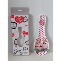 I Love Lucy Spoon Rest Polka Dot