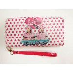 I Love Lucy Wallet Chocolate Factory Polka Dot Design Zip Around