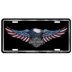 Harley Davidson License Plate Eagle Design