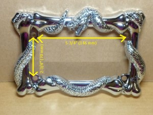 Motorcycle License Plate Frame Python Snake Design