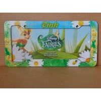 Tinkerbell Pvc License Plate Frame Tink Fairies Design