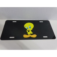 Tweety Bird License Plate #05 Sweet Pose Tweety (black)
