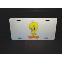 Tweety Bird License Plate #04 Sweet Pose Design (white)