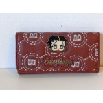 Betty Boop Tri-fold Wallet #051 Bb Face Design Brown