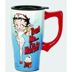 Betty Boop Travel Mug Nurse Design Blue (ceramic)