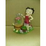 Betty Boop Mini Water Ball Flowers Design W6806