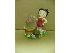 Betty Boop Mini Water Ball Flowers Design W6806